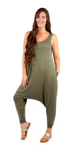 Momper Romper Jumpsuit in Green