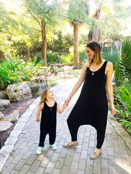 Momper Romper Mom + Mini Child Set in Black