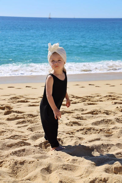 Girls' romper in black.
