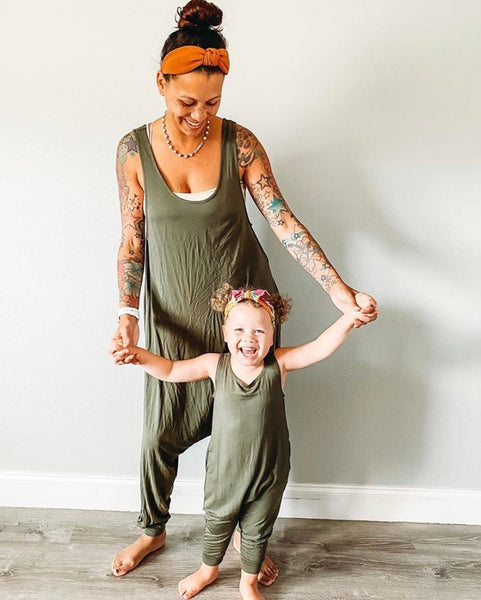 Mom + Mini Set - Olive Green