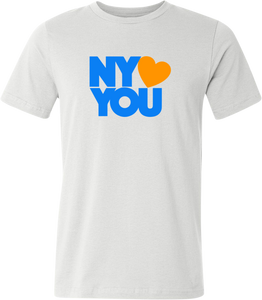 New York Hearts You Men's T-Shirt Blue/Orange