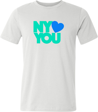 New York Hearts You Men's T-Shirt - Green/Blue
