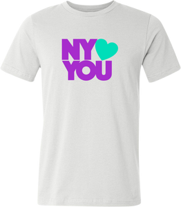New York Hearts You Men's T-Shirt - Purple/Green
