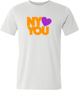 New York Hearts You Men's T-Shirt - Orange/Purple