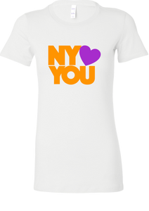 New York Hearts You Women's T-Shirt - Orange/Purpl