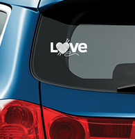 KNIT LOVE - Vinyl Decal for Car or Home