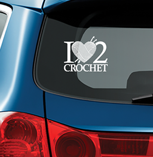 I HEART 2 CROCHET - Vinyl Decal for Car or Home