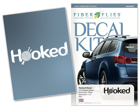 HOOKED - Vinyl Decal for Car or Home