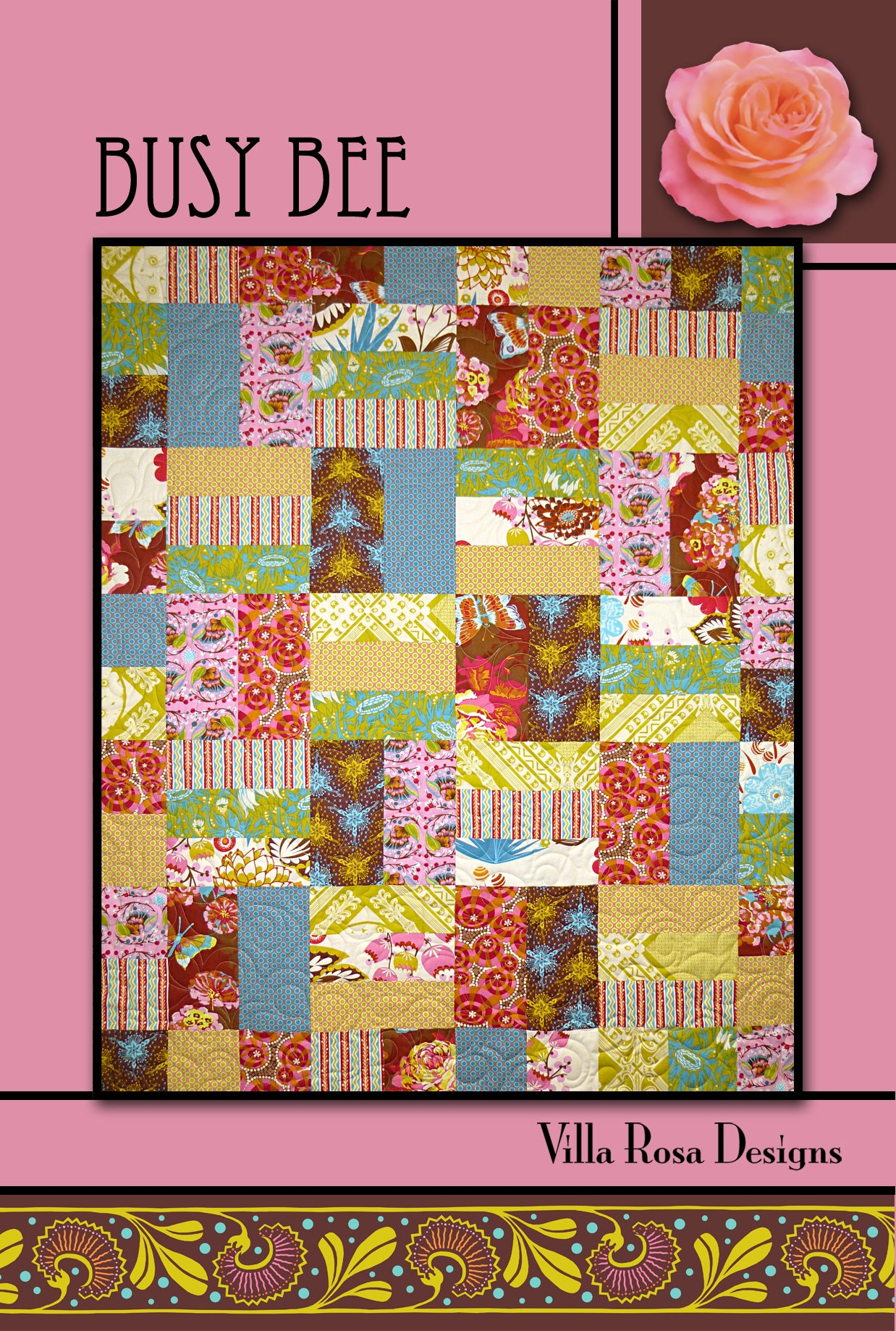"BUSY BEE pattern - 45""x54"""