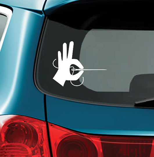 HAND SEWING - Vinyl Decal for Car or Home