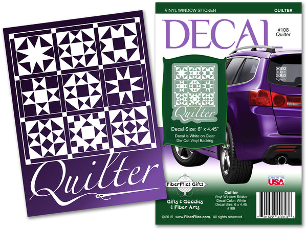 QUILTER - Vinyl Decal for Car or Home