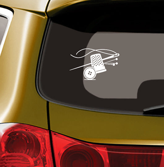 NEEDLE N NOTIONS - Vinyl Decal for Car or Home