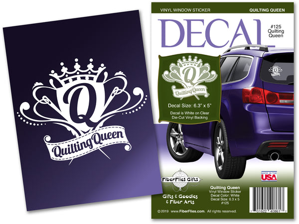 QUILTING QUEEN - Vinyl Decal for Car or Home