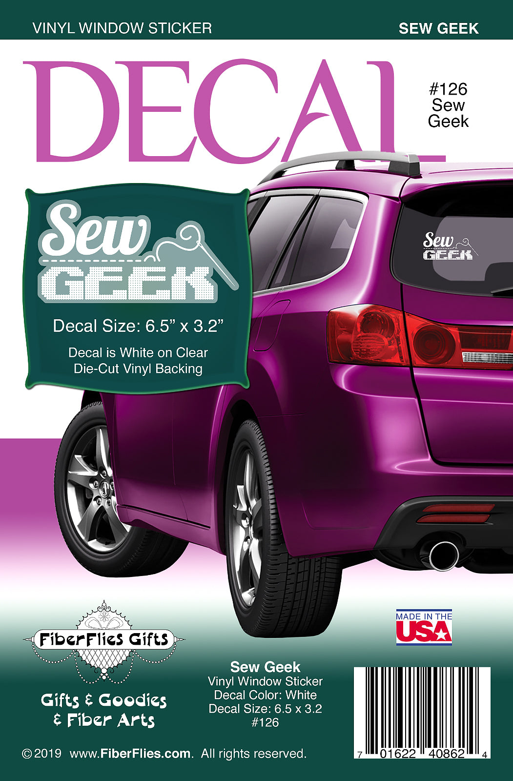 SEW GEEK - Vinyl Decal for Car or Home