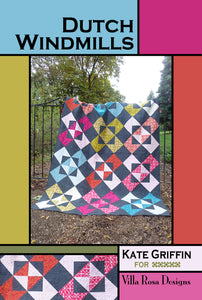 "DUTCH WINDMILLS pattern -  72""x96"""