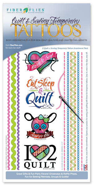 TEMPORARY TATTOOS - Quilt and Sewing Assortment