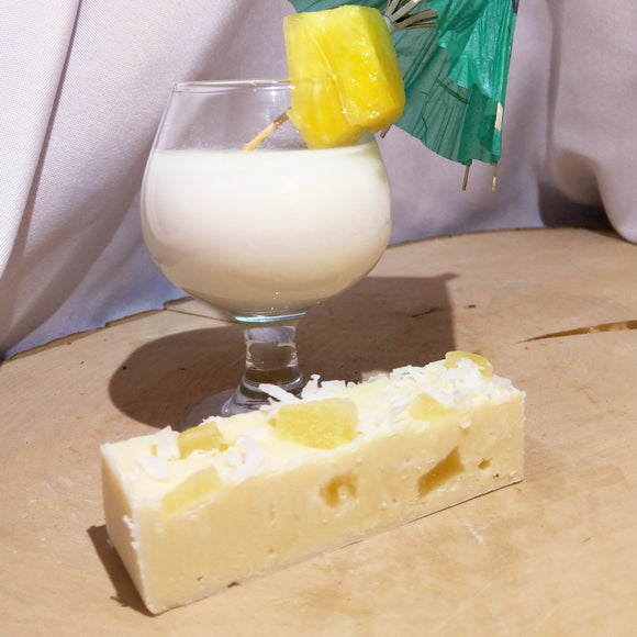 Pina Colada fudge; real coconut and pineapple in white chocolate