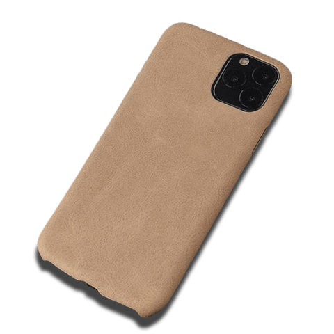 Coque iPhone XR Cuir Artificiel Beige