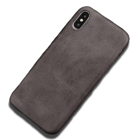 Coque iPhone XR Cuir Artificiel Marron