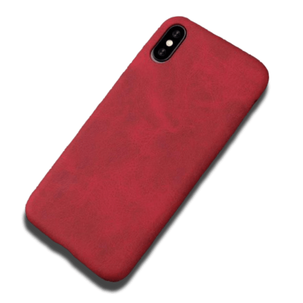 Coque iPhone XR Cuir Artificiel Rouge