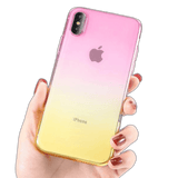 Coque iPhone 8 Dégradé Rose et Or