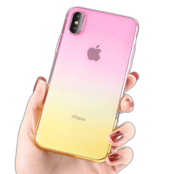 Coque iPhone 6/6s Dégradé Rose et Or