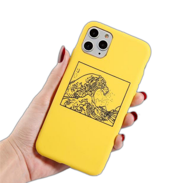 Coque iPhone 6 6s Jaune la Grande Vague