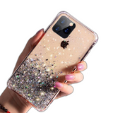 Coque iPhone 11 Or avec Paillettes