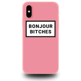 Coque iPhone XR Rose Bonjour Bitches