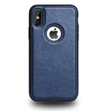 Coque iPhone 11 Simili Cuir Bleu