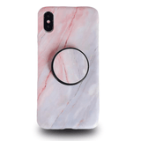 Coque iPhone en Marbre Gris avec support