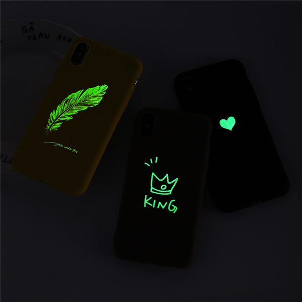 Coque iPhone 6/6s Jaune Cœur Fluorescent