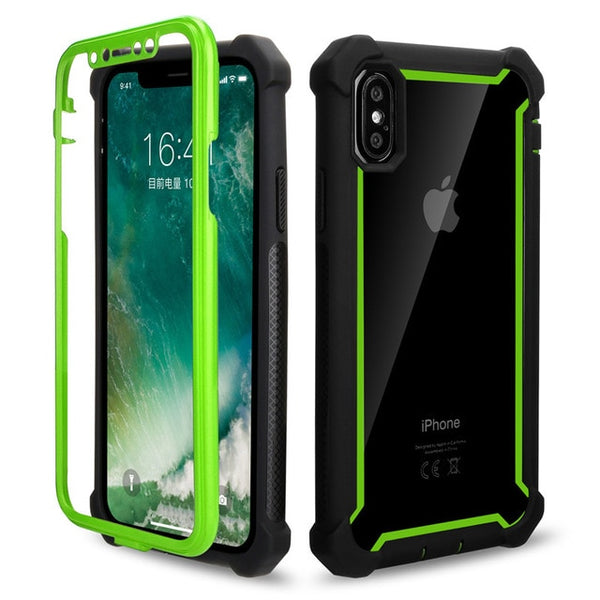 Coque iPhone 6/6s Double Protection Bordure Verte