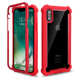Coque iPhone 8 Double Protection Bordure Rouge