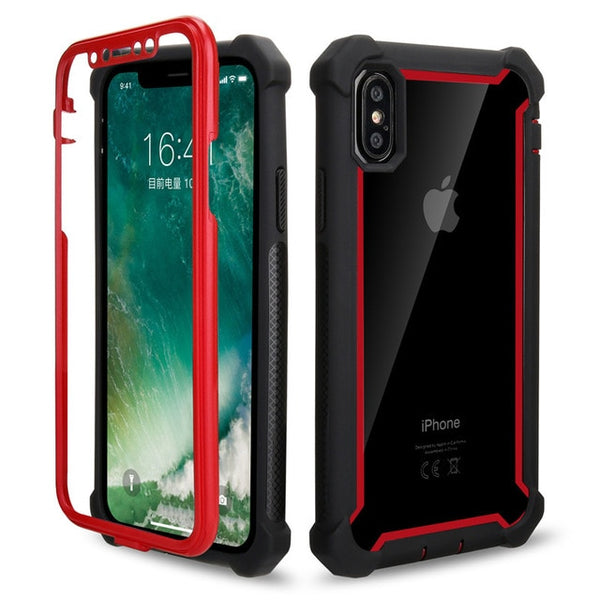 Coque iPhone 8 Double Protection Bordure Rouge Vif