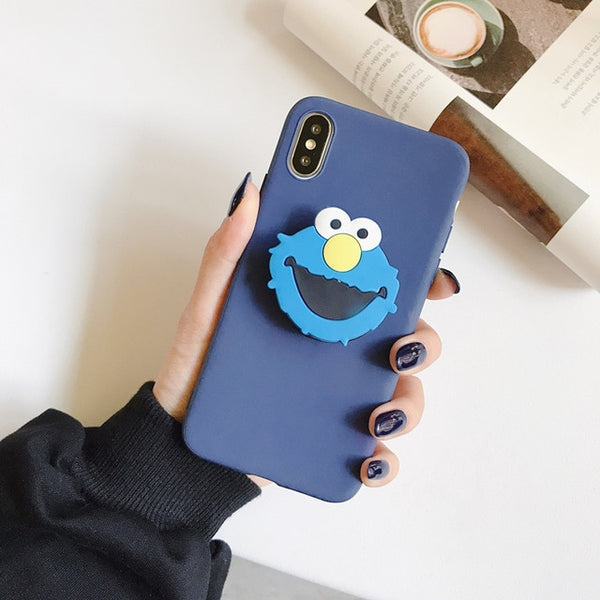 Coque iPhone XR Bleu Anneau Cartoon 2
