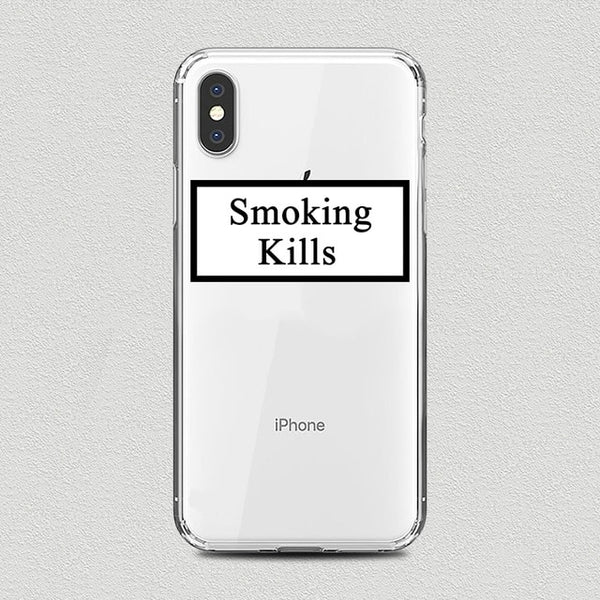 Coque iPhone XR Smoking Kills