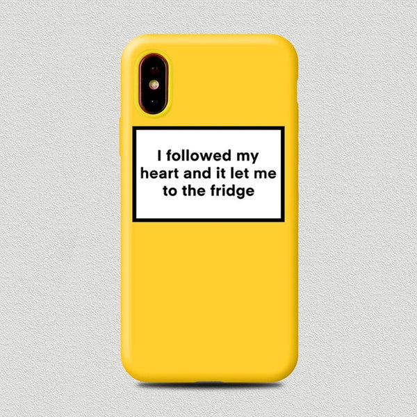 Coque iPhone 6/6s Jaune I Followed my Heart