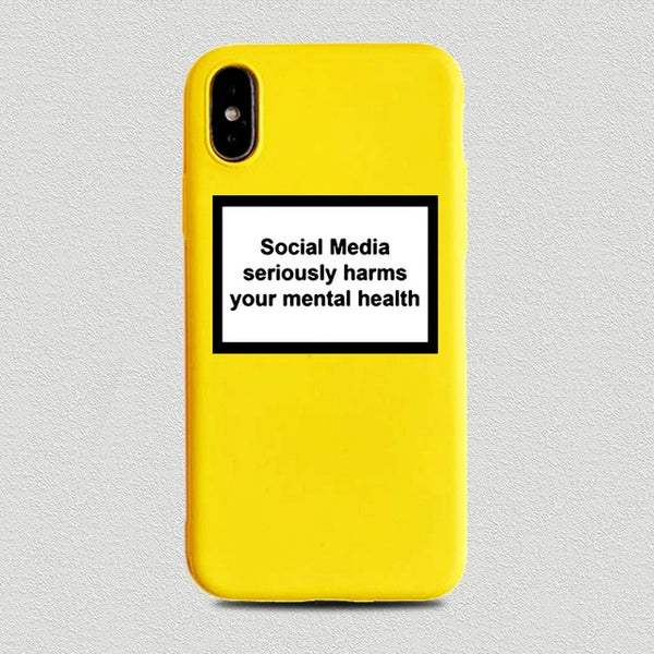 Coque iPhone 11 Jaune Social Medial