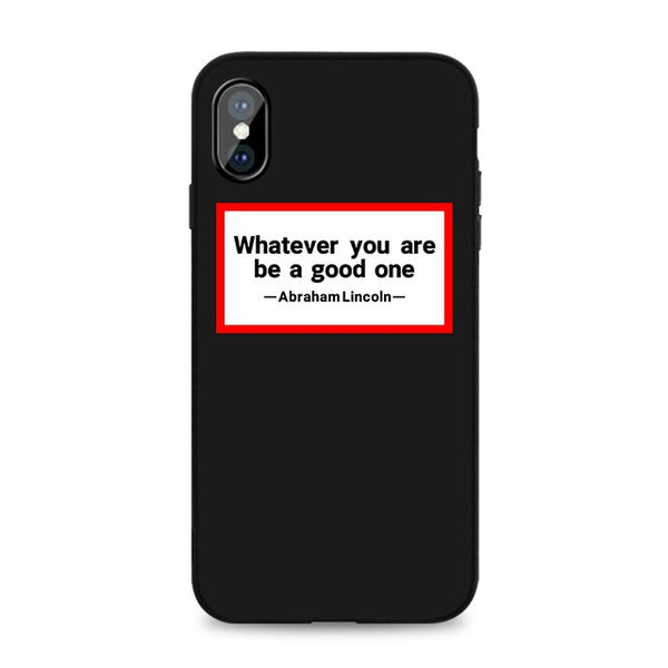 Coque iPhone XR Noire Whatever You Are