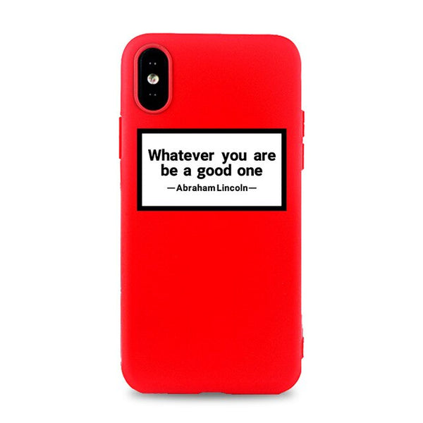 Coque iPhone XR Rouge Whatever You Are