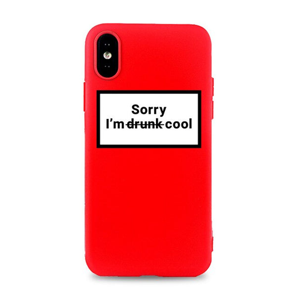 Coque iPhone 6/6s Rouge Sorry I'm Drunk