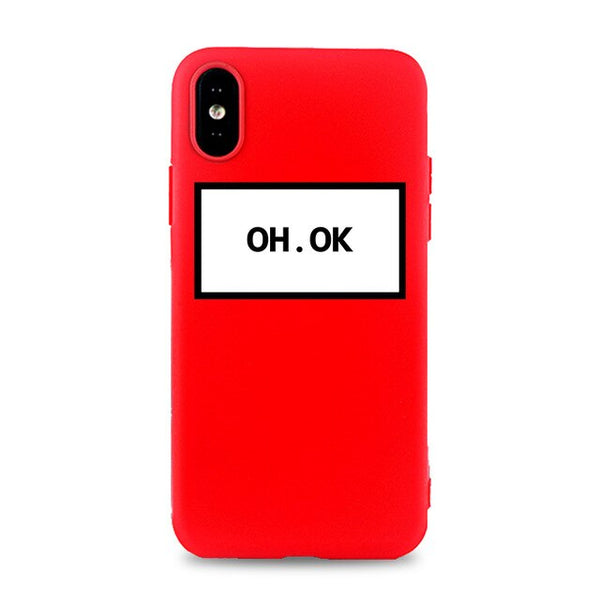 Coque iPhone 6/6s Rouge Oh Ok