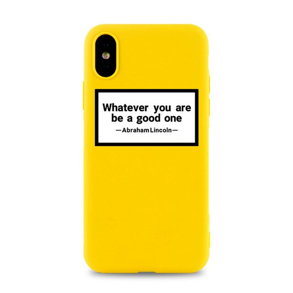 Coque iPhone XR Jaune Whatever You Are