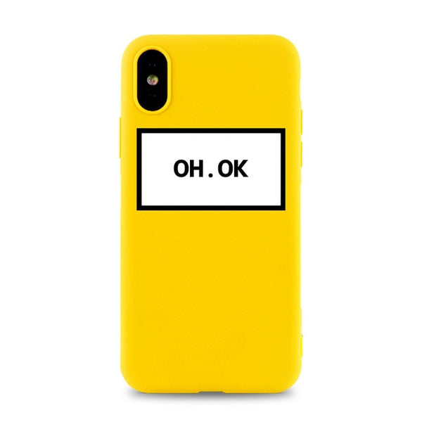 Coque iPhone 11 Jaune Oh Ok