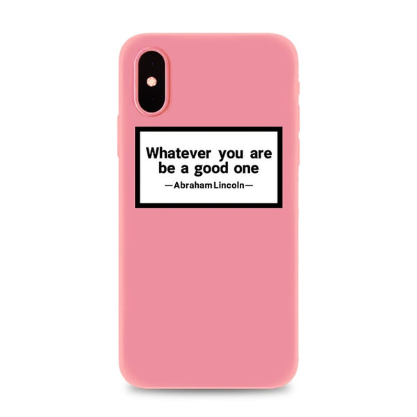 Coque iPhone XR Rose Whatever You Are