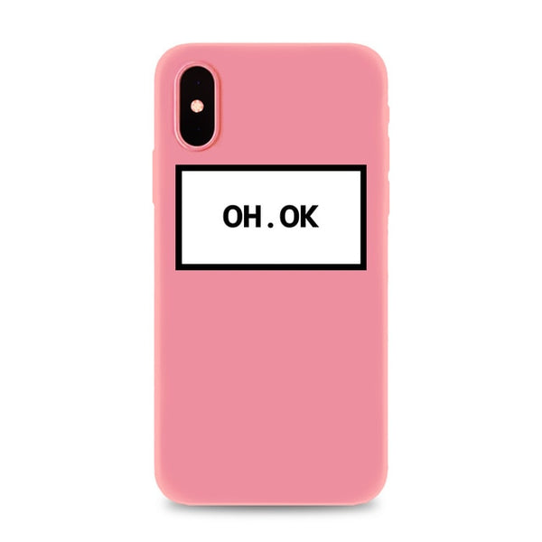Coque iPhone XR Rose Oh Ok