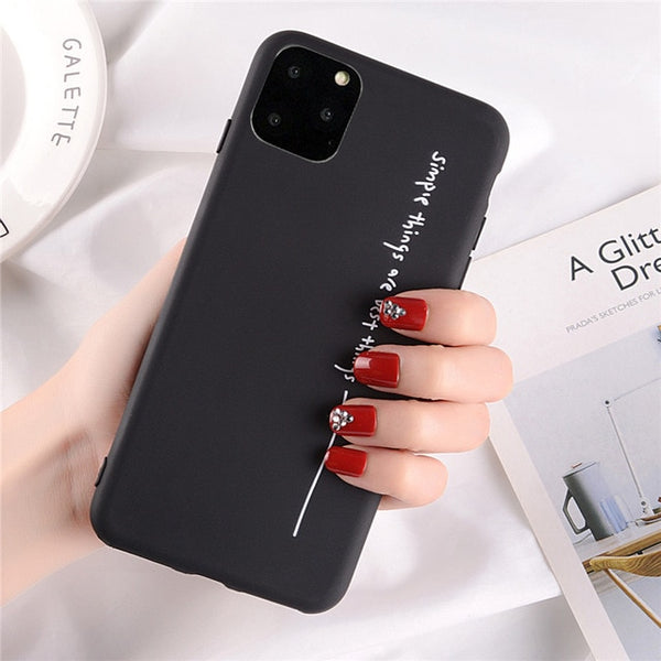 Coque iPhone XR Noire Simple Things