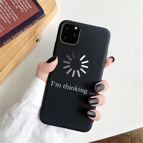 Coque iPhone 8 Noire I'm Thinking
