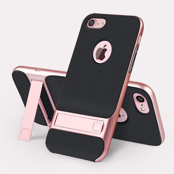 Coque iPhone XR Rose avec Support